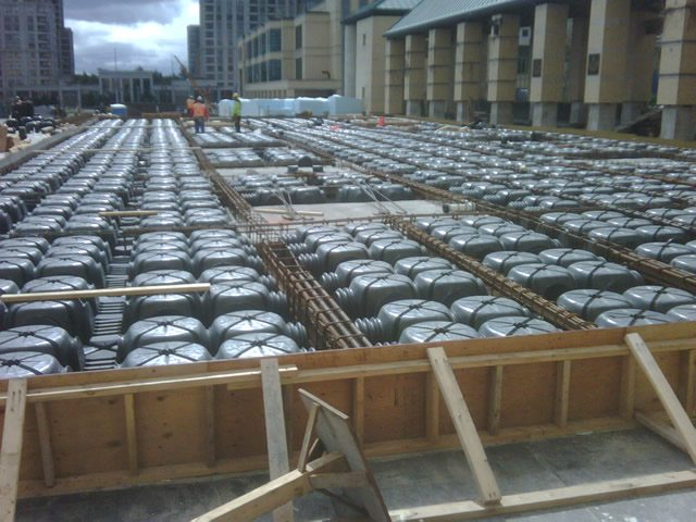 Structural Concrete Slabs : Structural ribbed concrete slabs cupolex sustainable